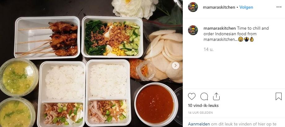 Mamara kookt Indonesich voor onze gasten!